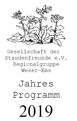 Cover des Programmheftes Gesellschaft der Staudenfreunde 2019